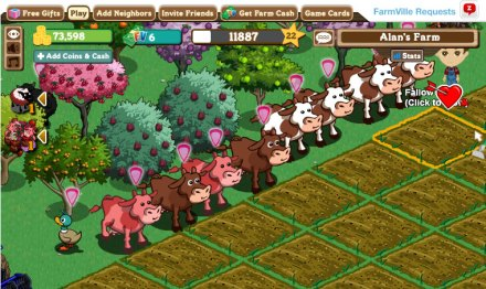 Screenshot of Farmville